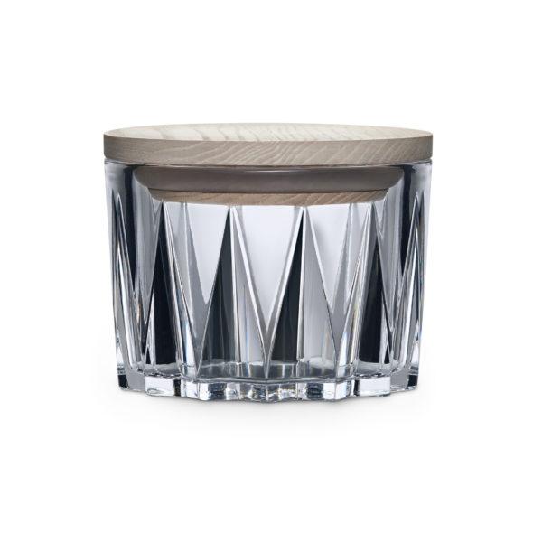 Crystal bowl avec couvercle